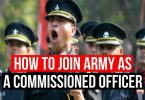 How to Join Army as a Commissioned Officer