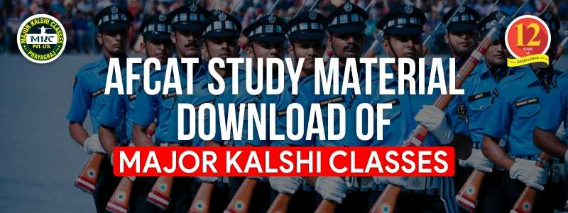 AFCAT Study Material Download of Major Kalshi Classes
