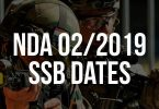 NDA 2/2019 SSB Dates, NDA SSB Date for 2 2019