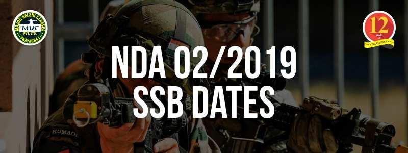 NDA 2/2019 SSB Dates, NDA SSB Date for 2 2019