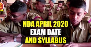 NDA April 2020 Exam Date and Syllabus
