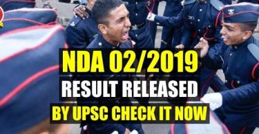 NDA 2/2019 Result Released by UPSC Check it Now