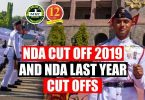 NDA Cut Off 2019 and NDA last Year Cut offs
