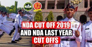 NDA Cut Off 2019 and NDA last Year Cut offs