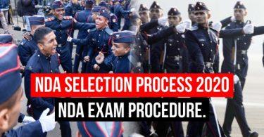 NDA Selection Process 2020 and Exam Procedure