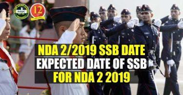 NDA 2/2019 SSB Date, Expected Date of SSB for NDA 2 2019