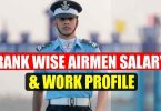 Rank wise Airmen Salary and Work profile