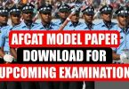 AFCAT Model Paper Download for Upcoming Examination