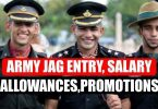 Army JAG Entry Salary, Allowances and Promotions