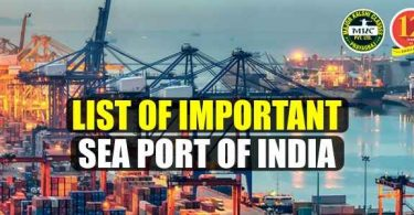 List of Important Seaports of India