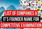 List of Companies and it's Founder Name for Competitive Examination