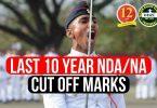 Last 10 Year NDA/ NA Cut off Marks