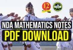 NDA Mathematics Notes Pdf Download