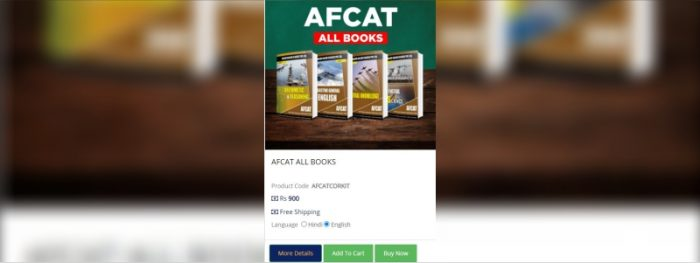AFCAT 2 2021 Study Material and List of Important Books.